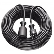 Hosszabítókábel 2m fekete H05VV-F 3G1,5