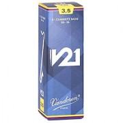 Vandoren CR8235 Bass Clarinet V21 Reeds Strength 3.5 Box of 5