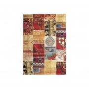 Alfombra Moderna Kelim Patch Multicolor 133x190 cm