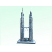 Alifa 3D Jigsaw Puzzle Games, Petronas Towers Puzzles Creative, Intelligent Toys For Kids Adults, Diy Build My World Series,84 Pieces
