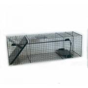Capcană umană (cușcă) pentru dihori, jderi și jderi de copac, pârși, câine enot, pisici și pisici sălbatice, vulpi – 100cm / 30cm / 30cm