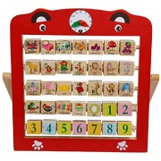 Creative Learning Wooden Alphabet Abacus Teaching Frame Educational Toy For Kids With 360 Rote Letters & Cognitive Letters