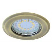 Beépíthető hidegtükrös matt arany spot lámpatest, MR16-es foglalattal, NEM állítható (FIX), (MAX 50W) D=82mm (Tracon TLC-2MG)