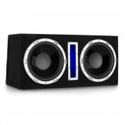 """Auna Basswaver X10L, активен subwoofer за кола, 2 x 25 cm (10""""), макс. 2100 W, LED (C8-Basswaver X10L)"""