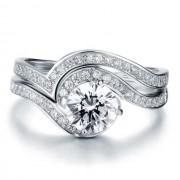 Set Inel si Verigheta Borealy Argint 925 Luxury Princess Marimea 7 5