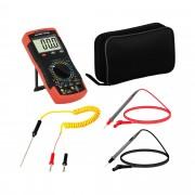 Multimetro - 2.000 conteggi - test transistore hFE - NCV - Misuratore di temperatura