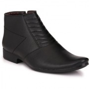 Knoos Men'S Synthetic Leather Semi Formal Boots