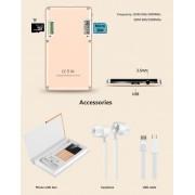 AEKU Qmart Q5 Card Téléphone portable, réseau: 2G, 5,5 mm Ultra mince Pocket Mini Slim Card Phone, 0,96 pouces, clavier QWERTY, BT, podomètre, télécommandé, musique MP3, capture à distance (noir)