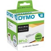 DYMO Adresetiketten 99010 28 x 89 mm Wit 2 Rollen à 130 Etiketten