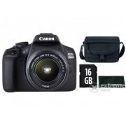 Aparat foto Canon EOS 2000D kit (obiectiv 18-55mm IS II) + geanta Canon + 16GB SD + laveta