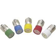 Lampă cu led T10 E10 multi, 2 cipuri, roşu, 24 - 28 V DC/AC, lungime de undă 620 - 630 nm
