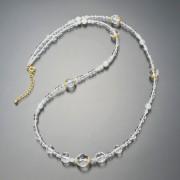 水晶 ロングネックレス【QVC】40代・50代レディースファッション