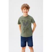 Mango Kids - Tricou copii Mnglogo 110-164 cm