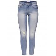 ONLY Jdy Clari Ankle Rw Skinny Fit Jeans Kvinna Blå