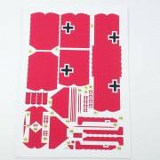 1:33 DIY 3D Fokker Dr. Ik 1918 Soort Drie Vleugel Vliegtuig Vliegtuigen DIY Papier Model Monteer Denki & Lin Puzzel Spel DIY Kids speelgoed