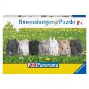 Puzzle Parada iepurasilor, 200 piese, RAVENSBURGER Puzzle Copii