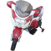 Oh Baby Baby Battery Operated Yamaha FZ Model Bike white Red Color With Musical Sound For Your Kids SE-BOB-17