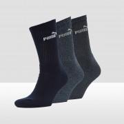 PUMA Crew sokken 3-pack Dames - D.blauw - Size: 43