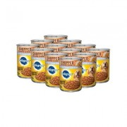 Pedigree Chopped Ground Dinner With Chicken, Beef & Liver Canned Dog Food, 13.2-oz, case of 12