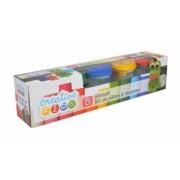 Set plastelina Creative Kids cu forme si 5 culori