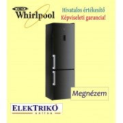 Whirlpool WTNF92OKH alulfagyasztós hűtőszekrény , A++ energiaosztály , Fekete szín , NoFrost