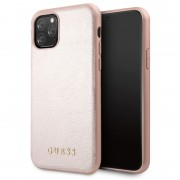"""""""Husa Hard iPhone 11 Pro Rose Gold Leather Guess"""""""