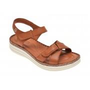 Sandale ON THE ROAD maro, 502, din piele naturala
