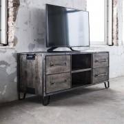 LUMZ Industrieel houten TV-meubel grijs