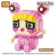 Generic LOZ Diamond Block Pink Beautiful Girl DIY Educational Children Nano Mini Bricks Educational Fashion Model Assembly Figure 9206