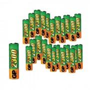 Акумулаторна батерия GP 230AAHC, AA, 2300mAh - комплект 20 батерии