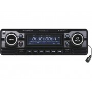 Caliber Audio Technology RCD-120BT/B Autoradio enkel DIN Retrodesign, Bluetooth handsfree