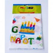 Terítő, 130x180 cm, \Boldog születésnapot\