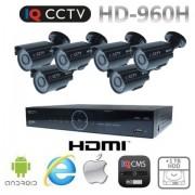 CCTV systém 960H s 6x bullet kamery s 20m IR + DVR s 1TB