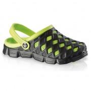 Fashy Clogs dames waterschoenen zwart/groen