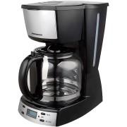 Cafetiera Heinner HCM-D918X, 900W, 1.8L, Timer electronic, Negru/Inox