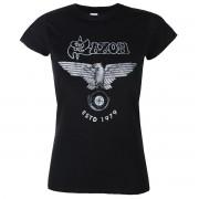 t-shirt metal donna Saxon - ESTD 1979 - PLASTIC HEAD - PH11785G