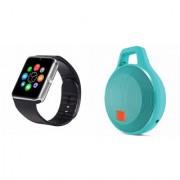 Zemini GT08 Smart Watch and Clip plus Bluetooth Speaker for SONY xperia M4 aqua dual(GT08 Smart Watch with 4G sim card camera memory card |Clip plus Bluetooth Speaker )