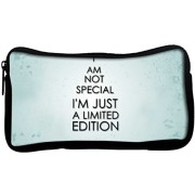Snoogg I M Not Saying Quote Poly Canvas Student Pen Pencil Case Coin Purse Utility Pouch Cosmetic Makeup Bag