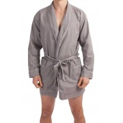 L'Homme Invisible Chill Out Dressing Gown Loungewear Grey HW140-LOU-027