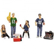 Tailgate Party four Figure Set For 1:18 Models #77733.Include 4 figures BBQ Grill and Cooler Box.# Does not come with cars shown.