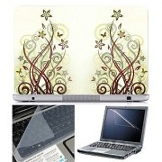 FineArts Laptop Skin Abstract Series 1079 With Screen Guard and Key Protector - Size 15.6 inch