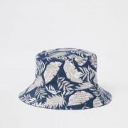 River Island Marineblauw hoedje met tropische print Heren