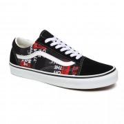 Vans Skate boty Vans Old Skool packing tape black red/true whit