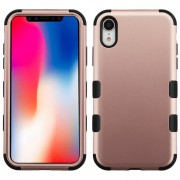 Funda Case Iphone XR Doble protector Uso Rudo Tuff - Rose