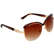 Zyaden Brown Over-sized Sunglasses for Women 507