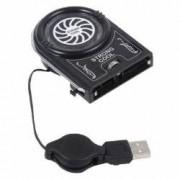 Mini Cooler Laptop USB 1 Ventilator Reglare Viteza Super Silentios Culoare Negru