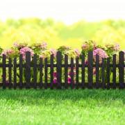 Virágágyás szegély / kerítés fekete műanyag 36 x 30 cm
