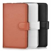 PU caso w / ranuras para tarjeta para Xperia E4G - Marron + Blanco + Negro (3pcs)