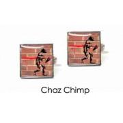 Tyler & Tyler Stencilart Red Bricks Cufflinks Chaz Chimp