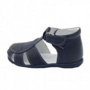 Sandale din piele naturala realizate manual pentru primii pasi EMEL E2206-8 Bleumarin 23